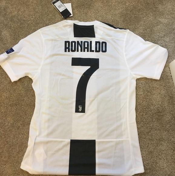 bb7ca8a5 adidas Shirts | Juventus Home 1819 Jersey Ucl Version Ronaldo7 ...